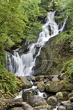 Torc waterfall in National Park Killarney, Ireland