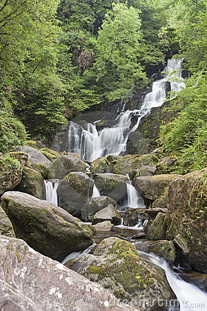 Torc waterfall in National Park Killarney, Ireland