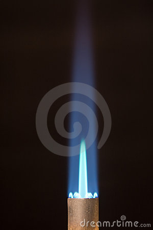 Torch tip with Blue Flame and Copy Space