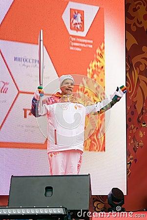 Torchbearer Vyacheslav Bocharov Editorial Image