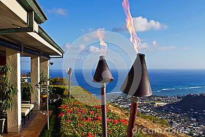 Torches and million dollar ocean view