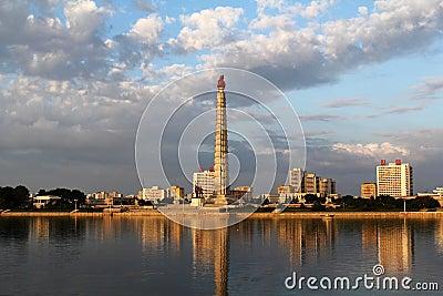 Toren van Idee Juche Redactionele Fotografie