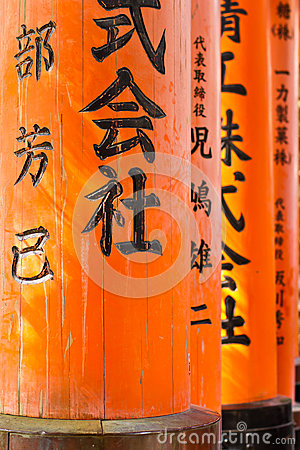 Torii at Fushimi Inari Taisha shrine