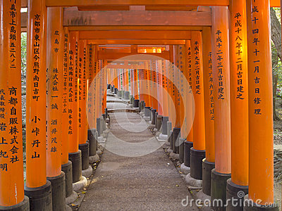 Torii gate at Fushimi Inari Shrine, Kyoto