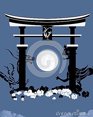 Torii, gate in a kingdom of the dead