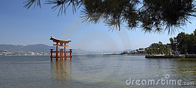 Torii Gate at Miyajima Island - Japan