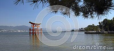 Torii Gate at Miyajima Island - Japan