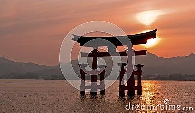 Torii gate, Miyajima, Japan