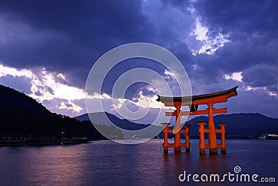 Torii gate at Miyajima, Japan