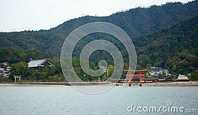 Torii gate in Miyajima, near Hiroshima, Japan