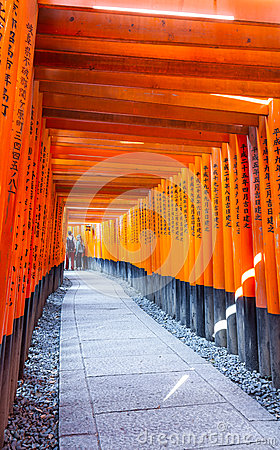 Torii gates in Fushimi Inari Shrine, Kyoto