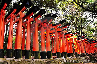 Torii gates of Fushimi Inari Taisha Shrine