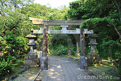Torii and Stone Lanterns