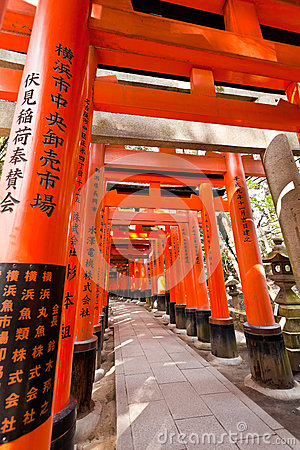 Torii tunnal at Fushimi Inari Taisha shrine