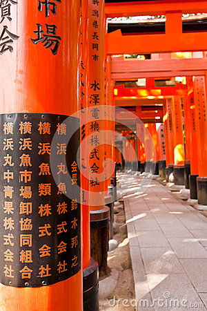 Torii tunnal at Fushimi Inari Taisha shrine