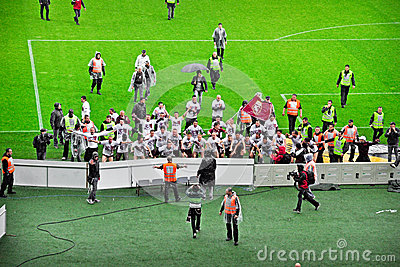 Torino FC players cheers Editorial Stock Photo