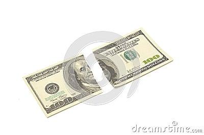 Torn $ 100