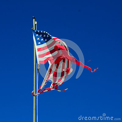 Free Torn American Flag Royalty Free Stock Image - 51759966