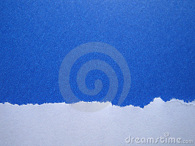 Torn Blue Paper Background