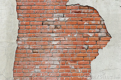 Torn brick wall background