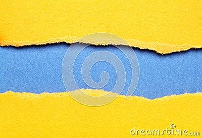 Torn color paper