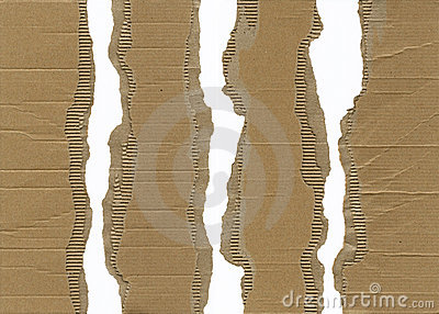 Torn Corrugated Cardboard