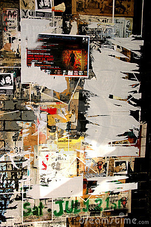 Torn grunge posters