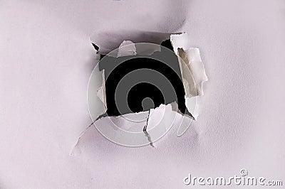 Torn hole