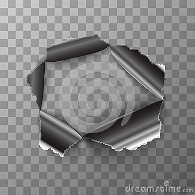 Free Torn Hole In Glossy Metal Plate On Transparent Background Stock Photos - 94698703