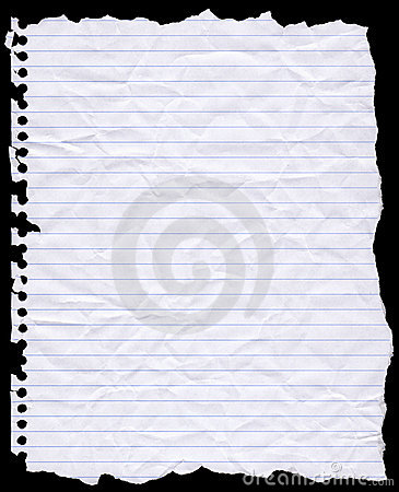 Free Torn Hole Punched Writing Paper Stock Image - 13258391