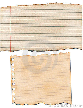 Torn lined paper