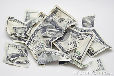 Torn money