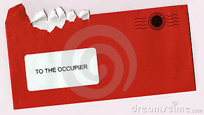 Torn Open Envelope With Post Stamp - Red Letter
