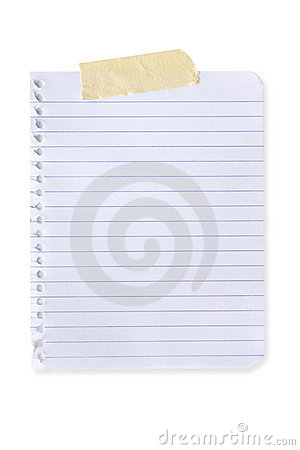 Free Torn Page (with Path) Royalty Free Stock Photo - 5854445