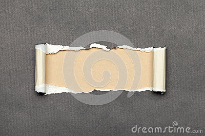 Torn paper with beige space for your message