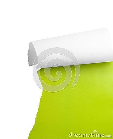 Torn paper corner
