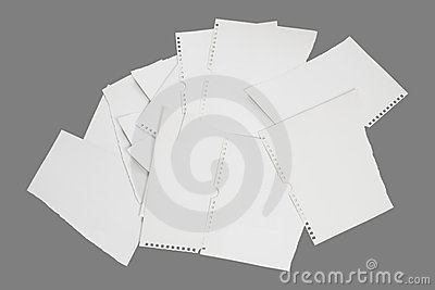 Torn paper notes