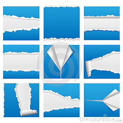 Free Torn Paper Set 1 Royalty Free Stock Images - 12690739