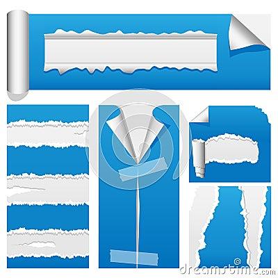 Torn Paper Set 2