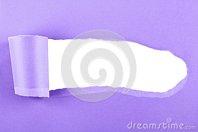 Torn purple paper background