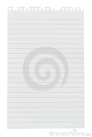 Free Torn Sheet Of Note Paper Stock Photo - 37794610