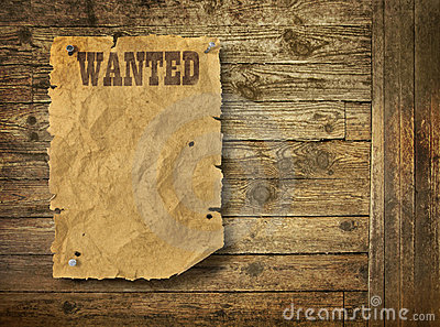 Empty Wild West Wanted Poster Photos Images Pictures – Free Wanted Poster Template Download