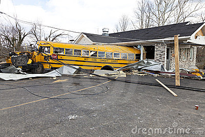 Tornado aftermath in Henryville, Indiana Editorial Stock Photo