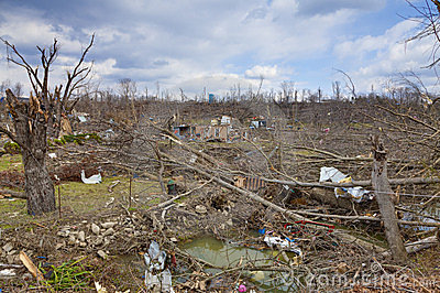 Tornado aftermath in Henryville, Indiana Editorial Stock Image