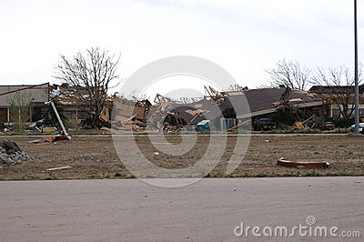 Tornado damage Editorial Stock Photo