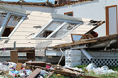Tornado Damage Caved In Walls