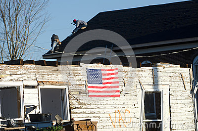 Tornado damage in Henryville, Indiana Editorial Image