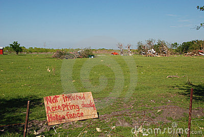 Tornado Damage - Not Insured Editorial Stock Image