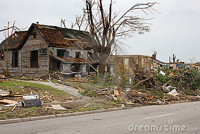 Tornado Damaged House Joplin Mo