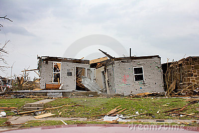 Tornado Damaged House Joplin Mo